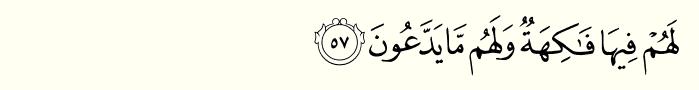 Surah yaseen ayat 57