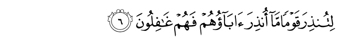 Surah yaseen ayat 6