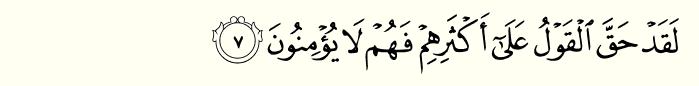 Surah yaseen ayat 7